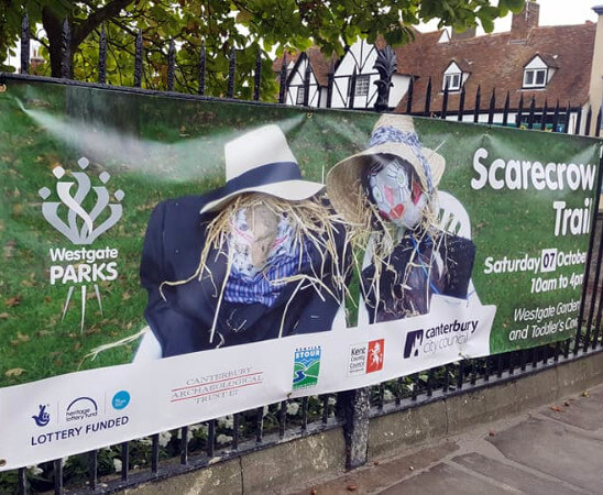 Events - scarecrow trail signage