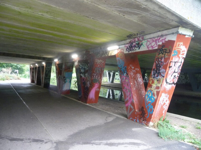 Underpass painting pre work