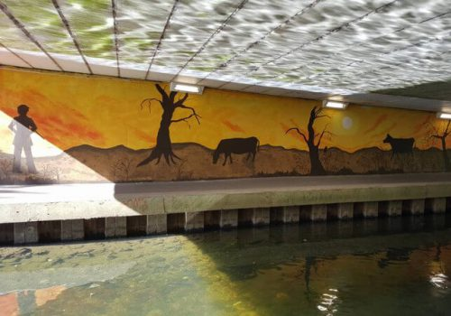 Tannery Field Underpass painting